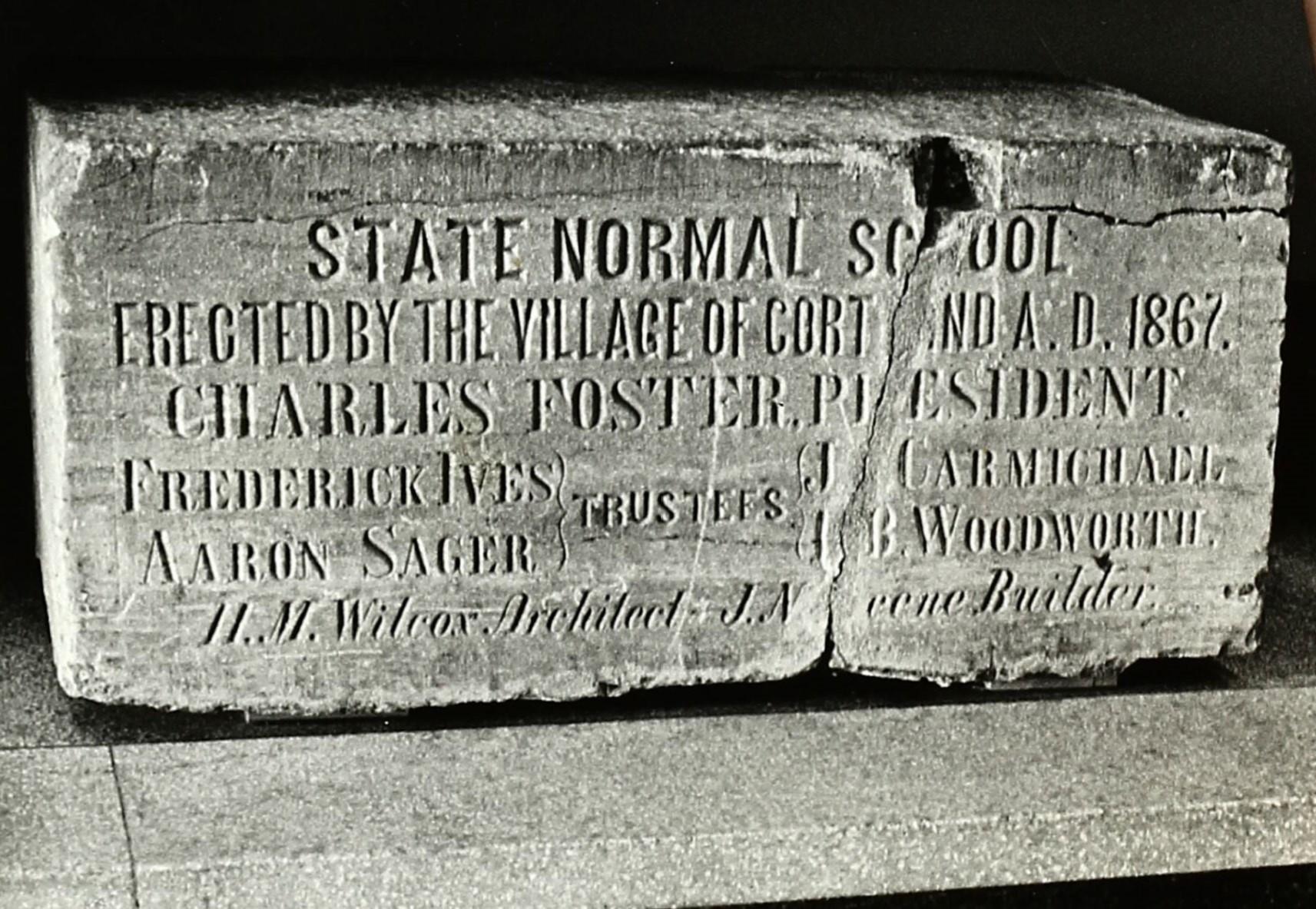 Dedication of Original Cornerstone