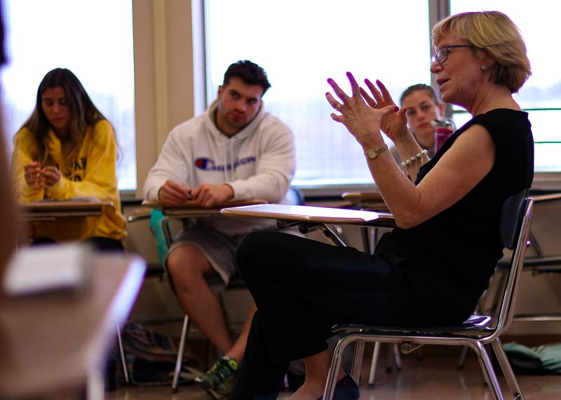 Candy Altman sharing her knowledge in a classroom