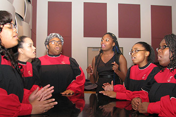 Female Gospel Ensemble Raises Voices