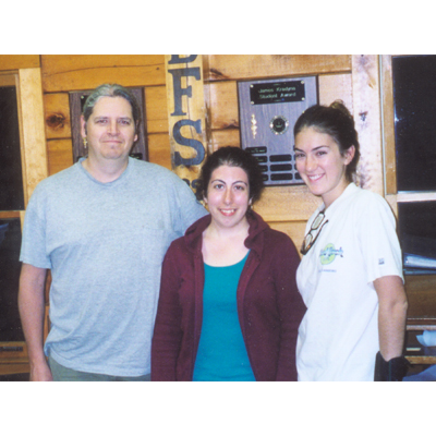 Jim Kradyna Scholarship recipients: James Morgenthein, Stephanie DeSisto and Maria Crosby