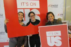 College Springs into Action for It's On Us Campaign