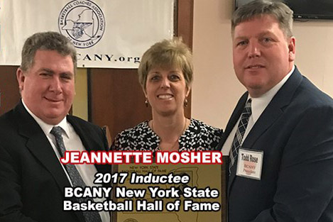 Mosher Inducted into New York State Basketball Hall of Fame