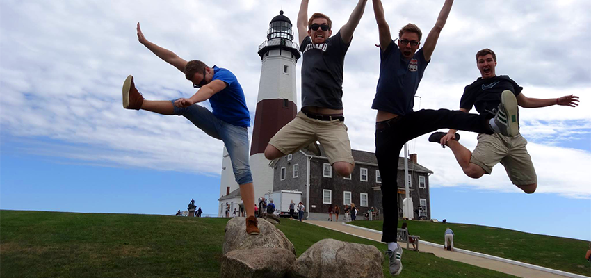 Jumping at the Lighthouse