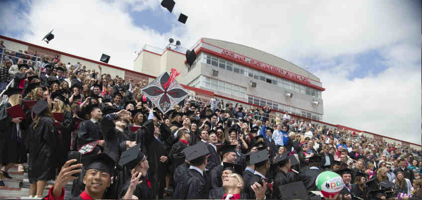 Commencement Ceremony in the Stadium Complex