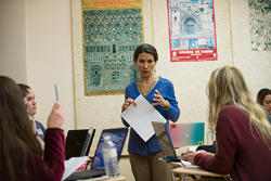 "Language professor ""walks the talk"" with students"