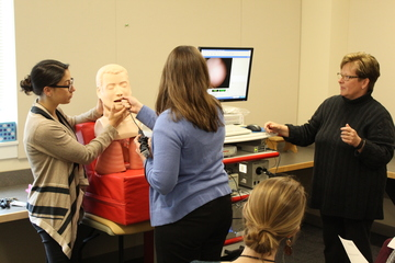 Graduate Students Learn Through Mannequin Classmate