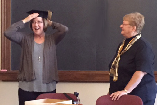 Health Educator Honored With Historic Mortarboard
