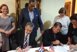 SUNY Cortland Signs Agreements with Two Cuban Universities