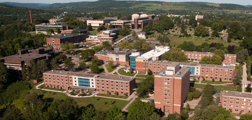 Aerial view of campus.