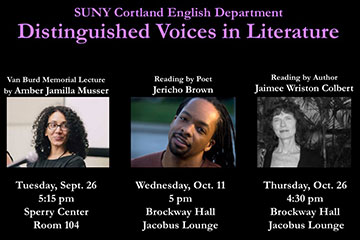 Literary Voices to Speak During Fall 2017