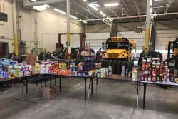 Red Dragons team up to address food insecurity in Oswego County