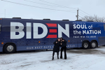 Student works alongside Joe Biden in Iowa