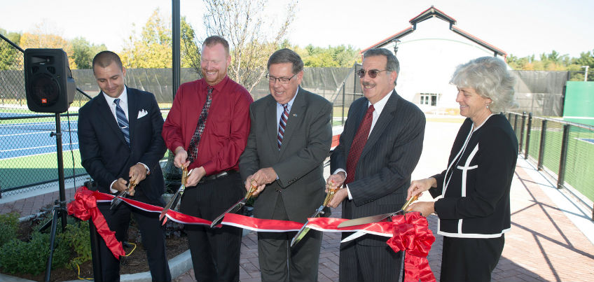 Tennis Court Ribbon Cutting 2016