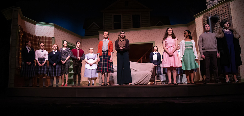 The Children's Hour cast stands on stage