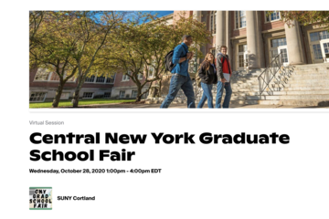 Online Graduate School Fair on Oct. 28