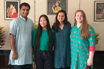Study Abroad Provides Canvas for Student Art in India