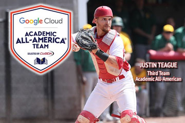 Justin Teague Academic All-American for Second Straight Season