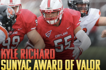 Richard Wins SUNYAC's Award of Valor