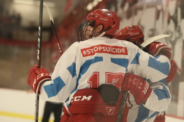 Men's hockey raises $11,000 for suicide prevention