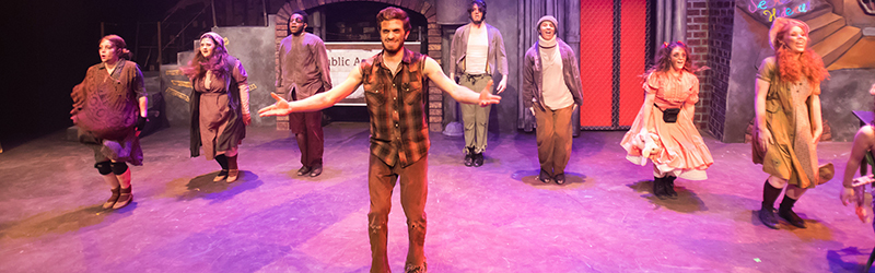 Students perform in Dowd Theatre musical