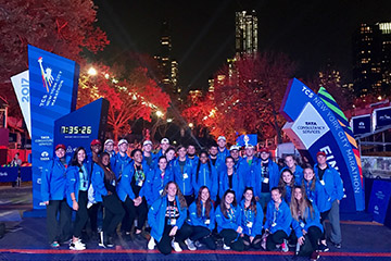 Sport Management Majors Help Run NYC Marathon