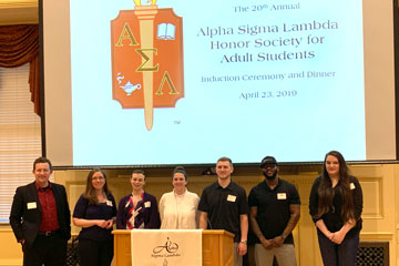 Non-Traditional Students Inducted into Honorary
