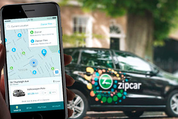 Zipcar offers short-term student car rentals