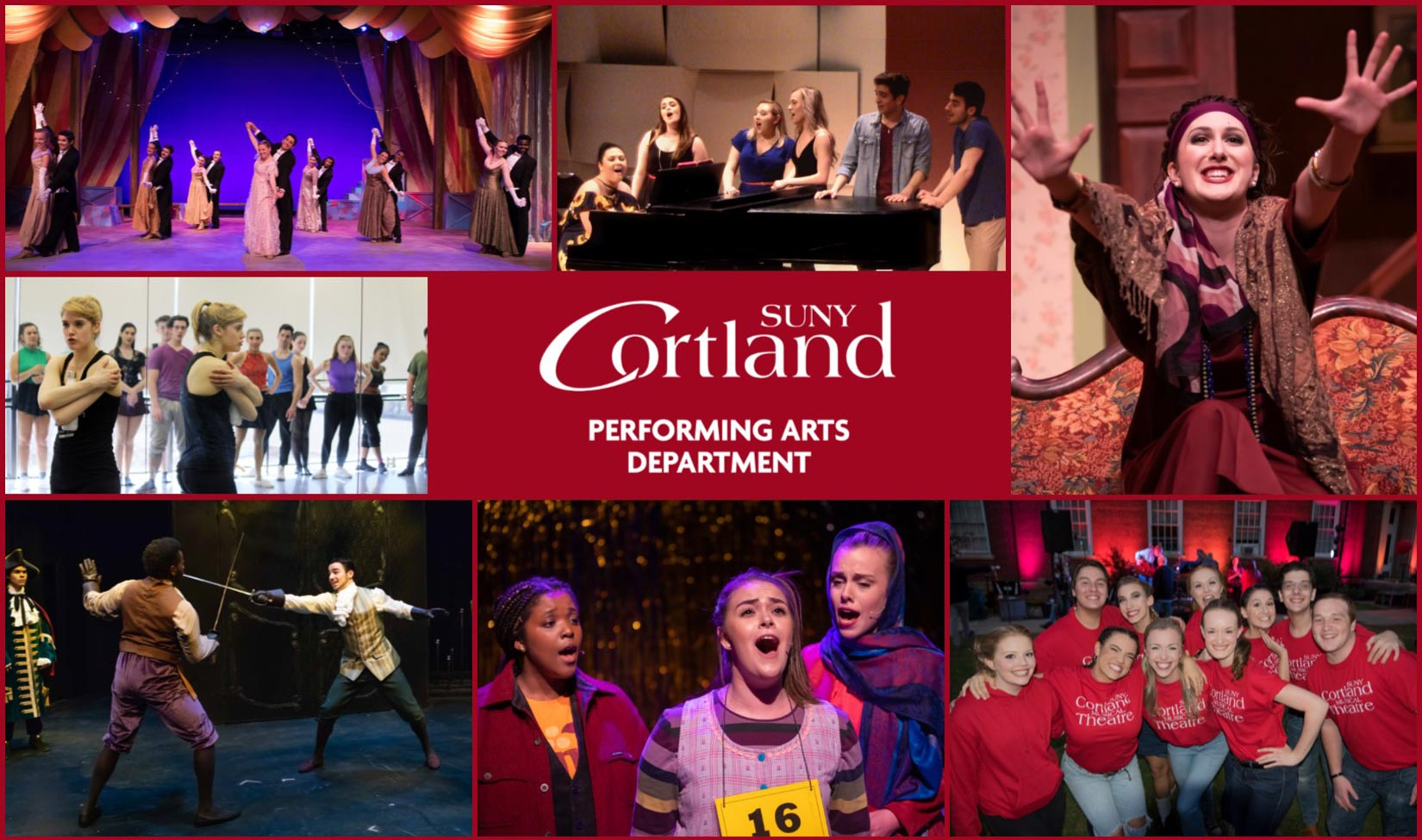 Performing Arts Department Collage