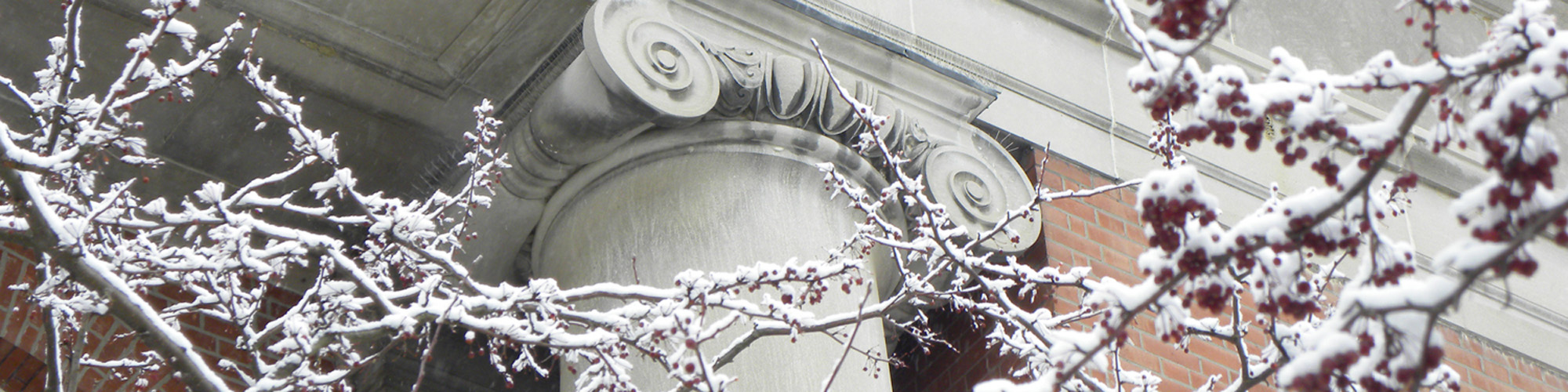 Snow outside Old Main