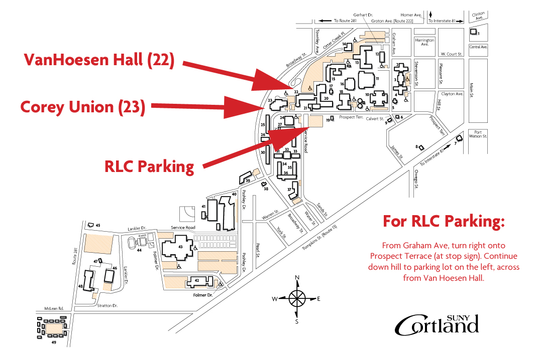 RLC Parking Map