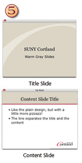Warm Gray PowerPoint Template with title background content slide