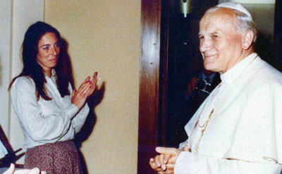 Barbara Wisch and Pope John Paul