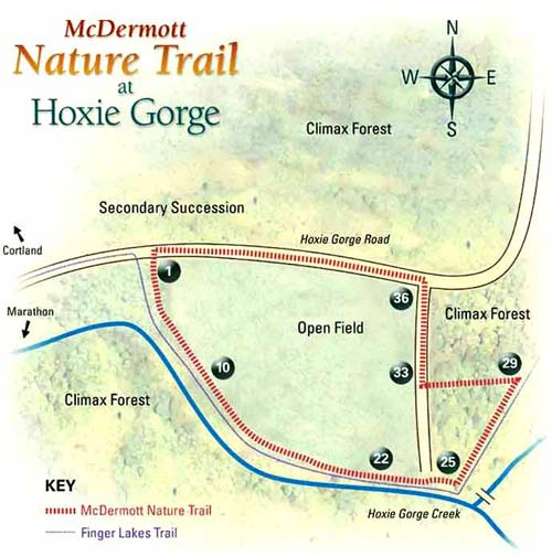 McDermott Nature Trail Map