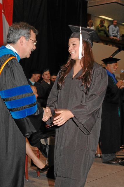 Photo Sample of President Shaking Student Hand