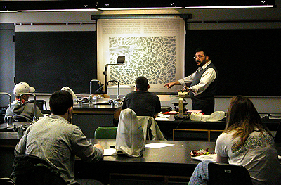 Dr. Gatto lecturing in Histology