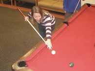 Girl playing pool - link to photo gallery