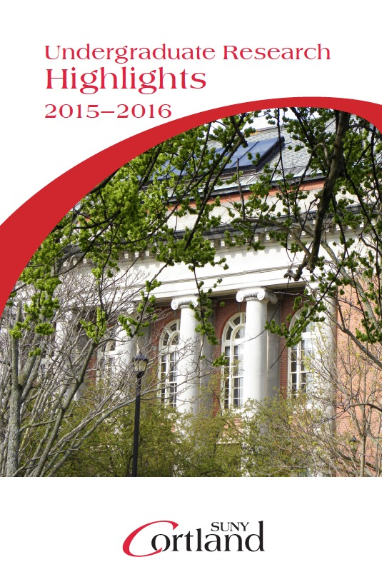 Cover photo of the 2015-2016 edition of the Highlights booklet, featuring Old Main Building