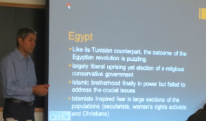 Larbi Touaf Talking About the Arab Spring in Egypt