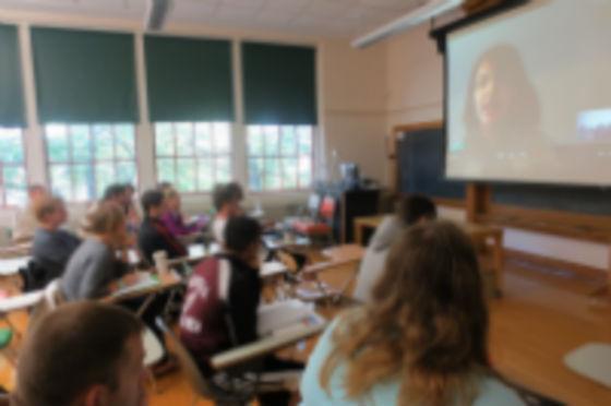 Skyped-In Syria Scholar