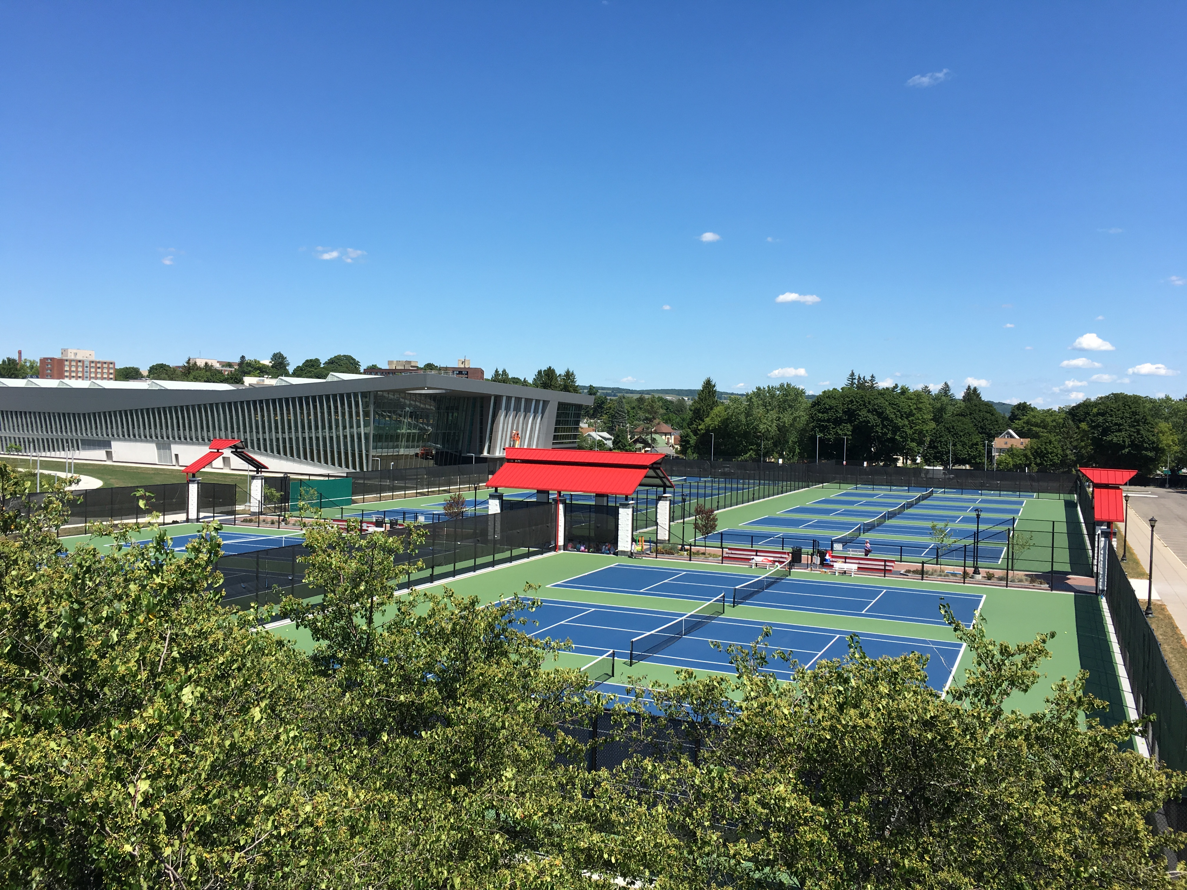 Tennis Courts and Student Life Center