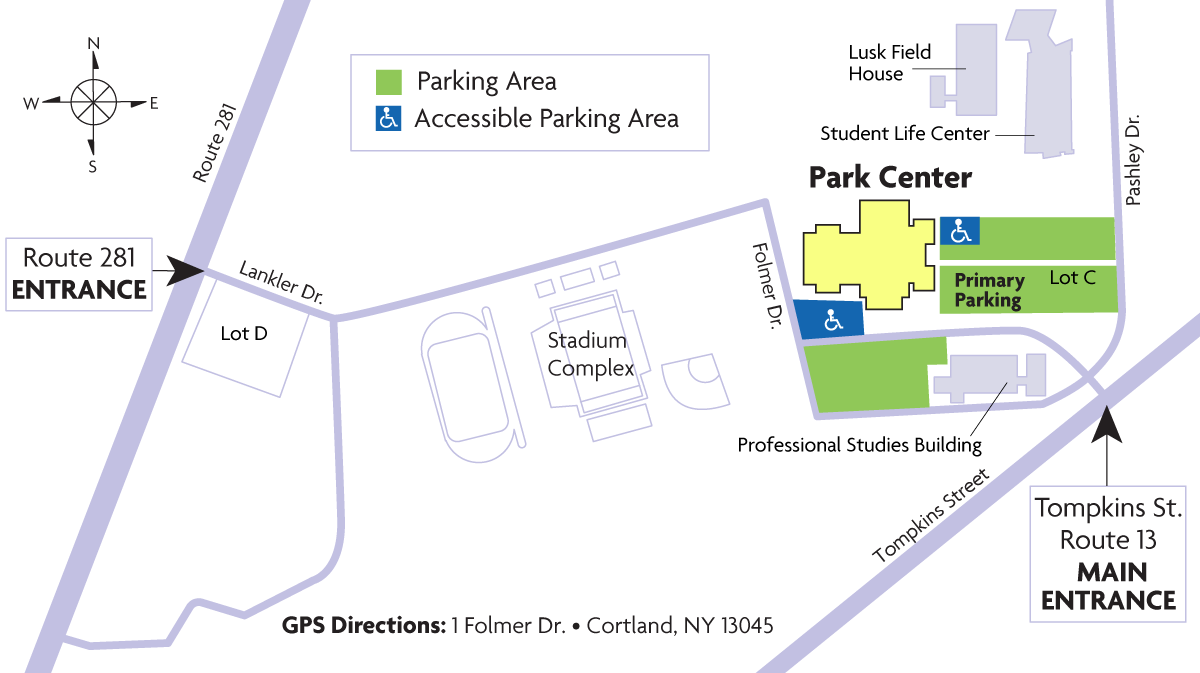 Commencement parking map