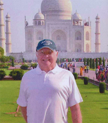 Tom Shea'58 at Taj Mahal