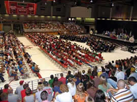 A view from the bleachers at Academic Convocation