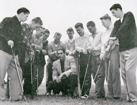 The 1949 men's golf team