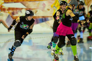 Roller derby opponents