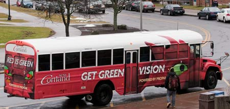 SUNY Cortland Propane-Powered bus