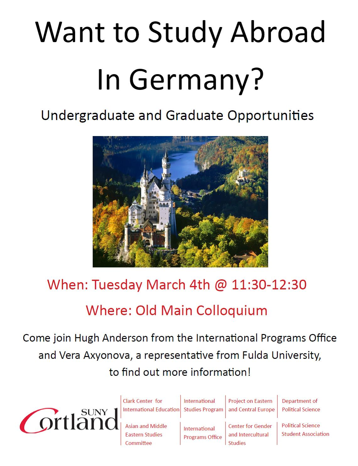 Want to Study Abroad in Germany?