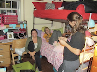 Hanging out in room - link to DeGroat Hall Photo Gallery