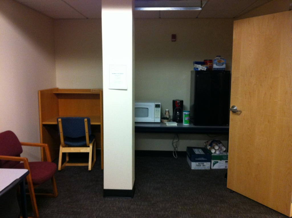 Non-Trad student Lounge Refrigerator and Microwave