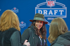 sport management graduate Katie Keenan working at the NFL Draft